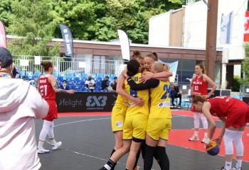 România a învins Polonia în sferturile turneului FIBA 3x3 Women's Series de la Voiron. Video