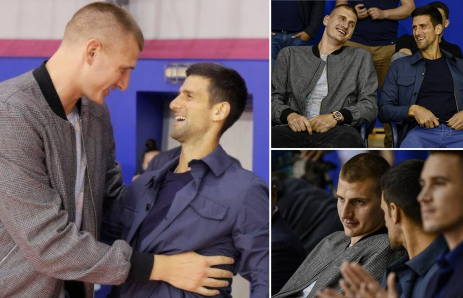 Djokovic, îmbrăcat cu tricoul lui Jokic la Roland Garros. Video