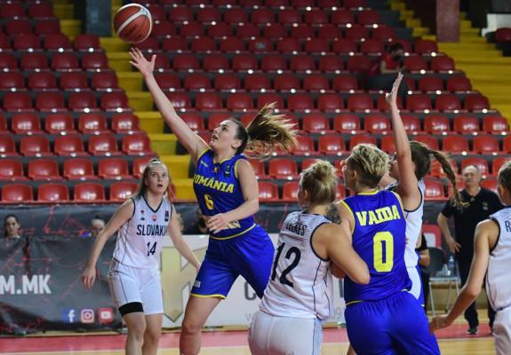 Naționala feminină U20 a României a suferit primul eșec la Skopje