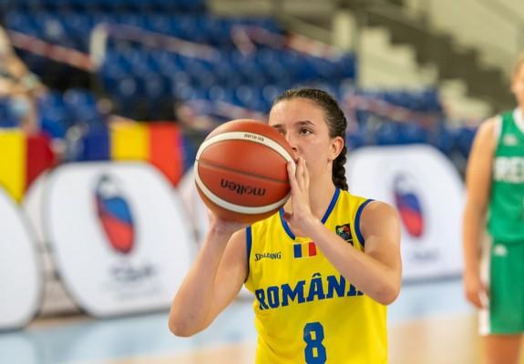 Ioana David, jucătoarea de 16 ani care a marcat coșul victoriei pentru Olimpia Brașov