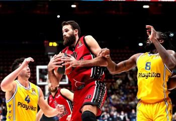 Olimpia Milano nu a avut emoții pe teren propriu în confruntarea cu Maccabi Tel Aviv