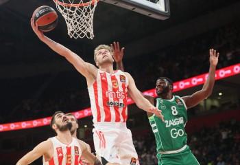 Steaua Roșie Belgrad învinge pe Zalgiris și ajunge la două victorii în Euroligă