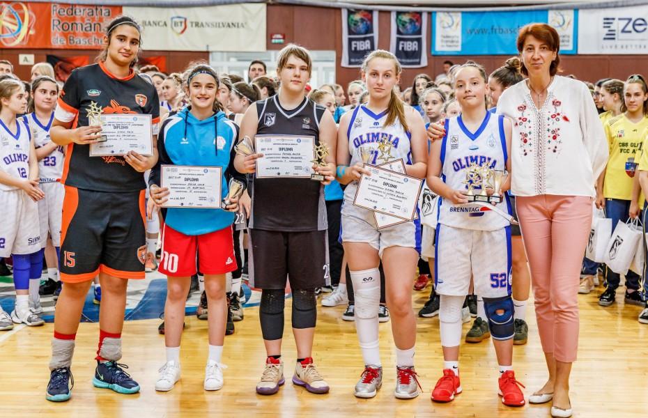 Premii individuale turneul final U14 feminin: MVP - Mihaela Panait