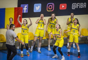 România învinge Muntenegru la 23 de puncte și obține a doua victorie la europeanul U16, divizia B