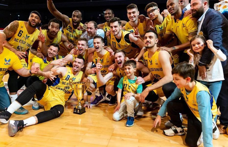 CSU Sibiu și-a prezentat trofeul Cupei României în Sala Transilvania (Video)