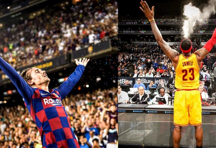 Antoine Griezmann a celebrat dubla cu Betis în stilul lui LeBron James. Video
