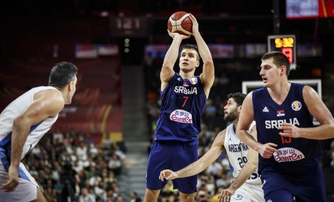 Bogdan Bogdanovic a marcat mai multe triple decât șapte naționale de la Campionatul Mondial