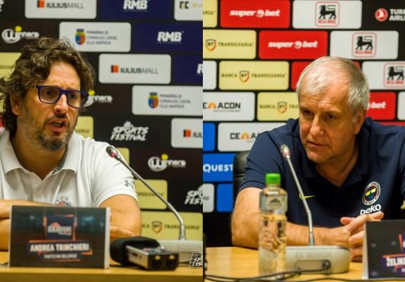 Zeljko Obradovic și Andrea Trinchieri au tras concluziile după turneul amical de la Cluj-Napoca
