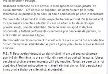 """Ionuț Georgescu, răspuns pentru Horia Păun: """" Lumea tace și le trage. Respect reciproc? Profesionalism? Povești"""""""
