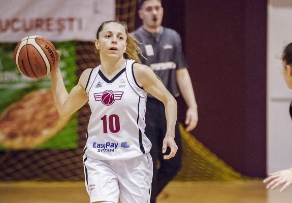 Florina Stănici (Diaconu), din nou lidera Rapidului cu 27 de puncte contra Olimpiei CSU Brașov