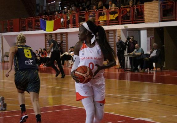 Bernice Mosby, principala marcatoare a lui CSM Satu Mare în victoria cu FCC Baschet Arad