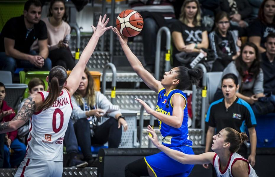 Annemarie Godri-Părău a fost principala marcatoare a României în jocul pierdut la limită cu Cehia