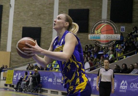 Viorela Voicu, a doua jucătoare care ajunge la +40 eficiență într-un meci din această ediție a LNBF