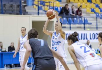 Biljana Pesovic, aproape de triple-double în meciul Olimpiei CSU Brașov cu Rapidul
