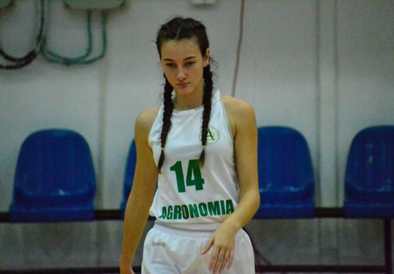 Tânăra Maria Militaru a bifat primul său double-double în Liga Națională