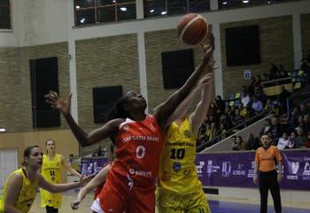 Bernice Mosby, cea mai bună jucătoare a vicecampioanei la Arad, cu al doilea double-double în LNBF