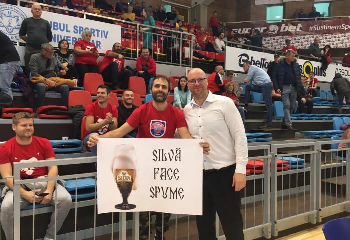 Mihai Silvășan, protagonistul unui moment amuzant în Arena Antonio Alexe. Foto