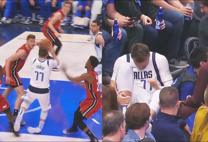 Luka Doncic a suferit o entorsă în partida cu Miami Heat, pierdută în prelungiri de Dallas Mavericks
