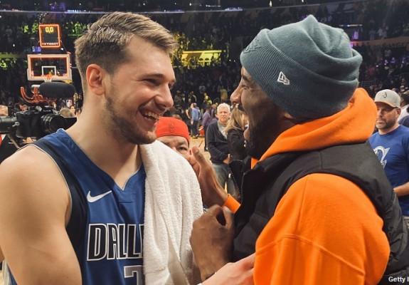 Episod amuzant între Kobe Bryant și Luka Doncic. Video
