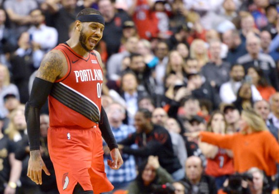 Carmelo Anthony, coș decisiv în victoria lui Portland Trail Blazers din Canada. Video