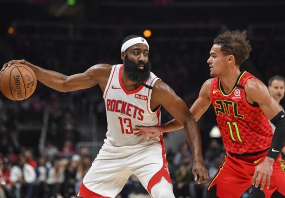 James Harden și Houston Rockets se impun în partida cu Atlanta Hawks