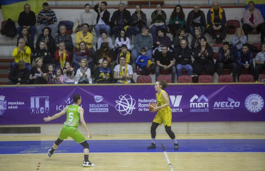 FCC Baschet Arad a decis ca meciul cu Olimpia Brașov să se joace fără spectatori