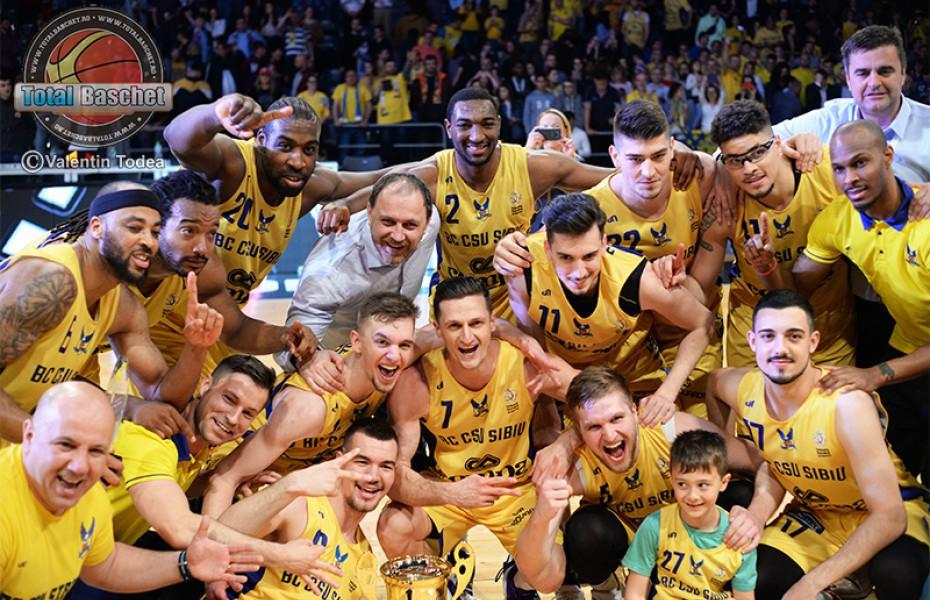 BC CSU Sibiu câștiga în premieră Cupa României pe 18 aprilie 2019 la Cluj-Napoca