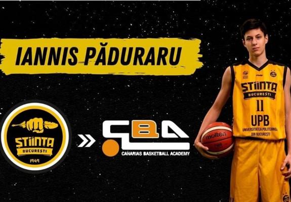Iannis Păduraru a primit o bursă la Canarias Basketball Academy, un institut din Tenerife