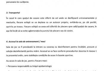 Document oficial. Condițiile pentru organizarea competițiilor în spațiile închise pentru sporturile de echipă
