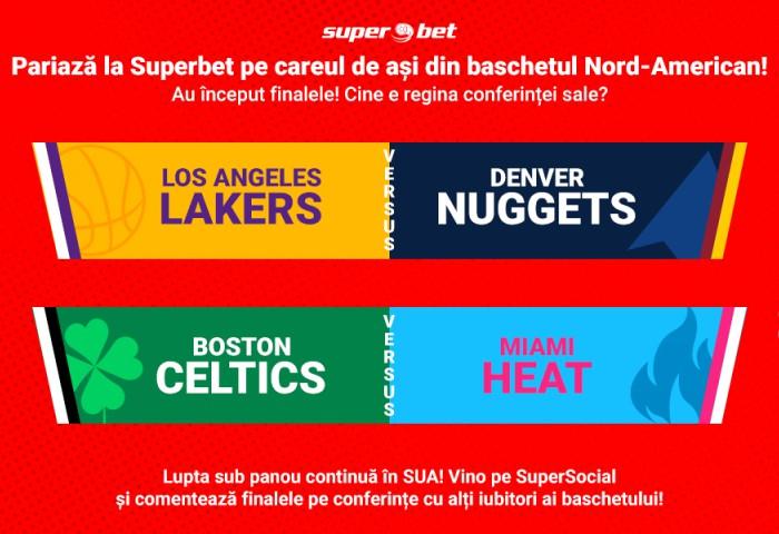 Start în finalele conferințelor NBA!