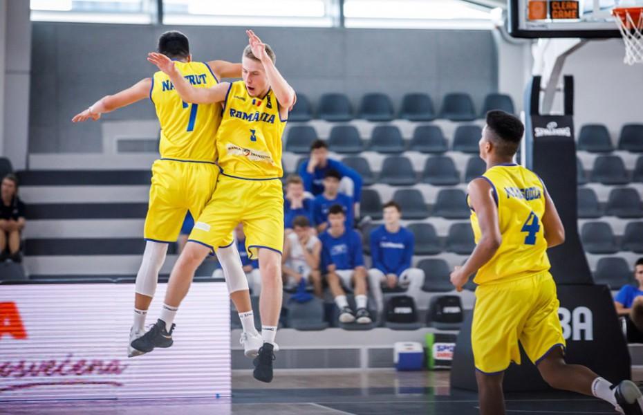 România se califică în sferturile europeanului U16 după ce a învins Marea Britanie