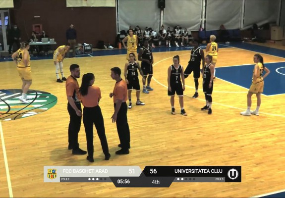 Arbitrajul video a fost folosit în premieră în baschetul românesc