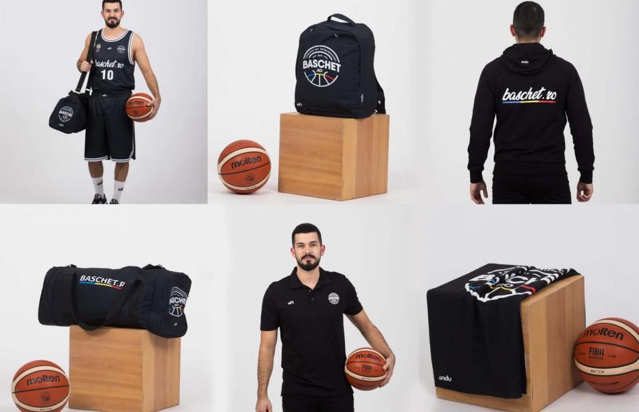 Noile produse vestimentare Baschet.ro pot fi achiziționate online de pe platforma Andu Sports