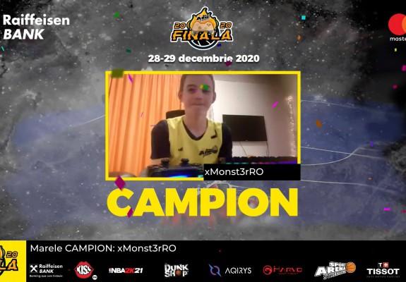 Spectacol total la finala Raiffeisen Bank eSport Arena Streetball: Turneul de baschet 3x3 online a pus punct anului 2020