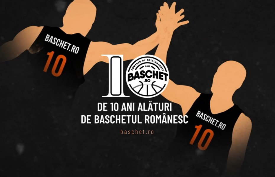 Sărbătorim împreună 10 ani de existență! Fii alături de noi și sprijină proiectul Baschet.ro