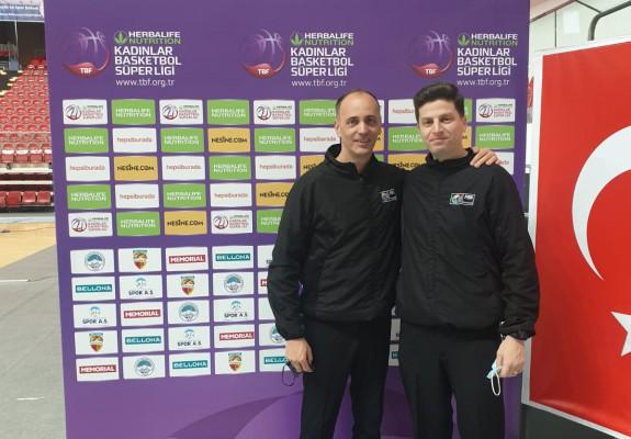 Alin Faur și Dragoș Nicolae vor arbitra un meci din optimile EuroCup Women