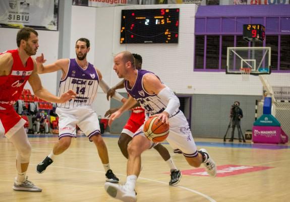 BCM U Pitești câștigă la diferență de un punct meciul cu CSM Oradea