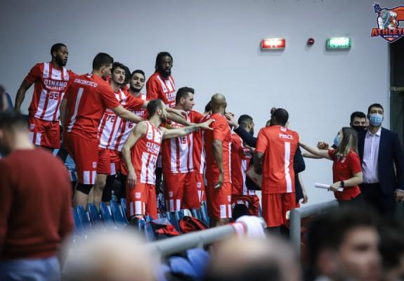 Dinamo București, a treia victorie consecutivă în LNBM
