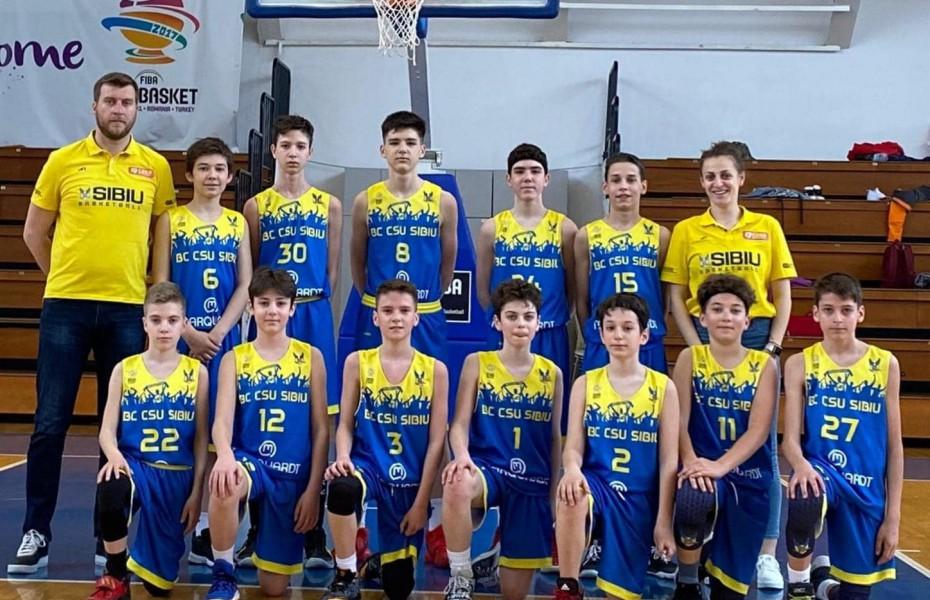 CN U13 - BC CSU Sibiu și ABC Shooting Stars Buftea, primele echipe calificate la Turneul Final